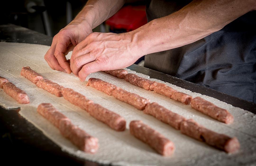 Rollen vlees worstenbrood