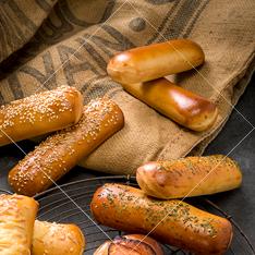 Verschillende worstenbroodjes